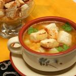 Гороховый суп с кабачками