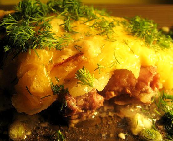 Картофельно-куриная запеканка