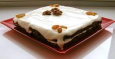 Торт с изюмом и орехами