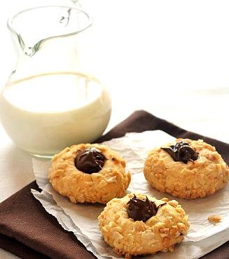Ореховое печенье с нутеллой