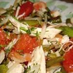 Салат из грейпфрута и курицы
