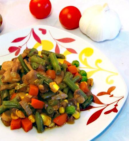 Блюдо из овощей для поддержания формы