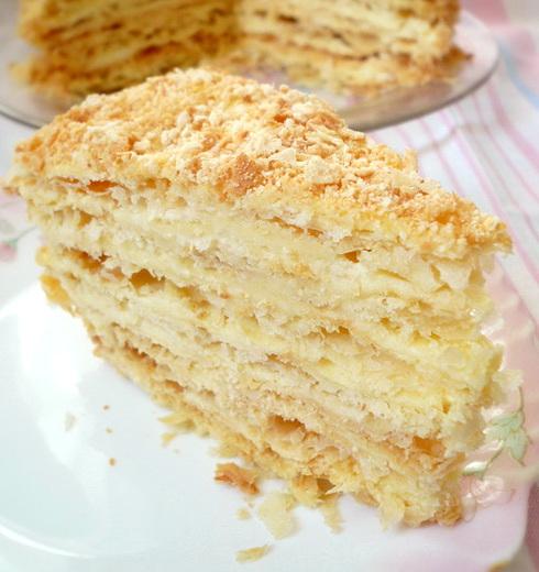 наполеон торт наполеон рецепт с заварным кремом самый вкусный от бабушки эммы