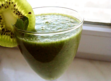 Жиросжигающий зеленый коктейль фото