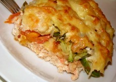 Запеканка с курицей и овощами фото