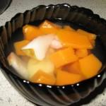 Желейный десерт из тыквы