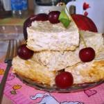Диетическая творожная запеканка с яблоками
