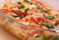 Кабачки, запеченные с помидорами и сыром фото