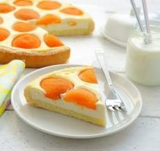 Абрикосовый творожной пирог фото