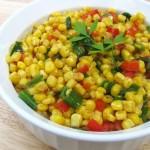 Горячий салат из кукурузы
