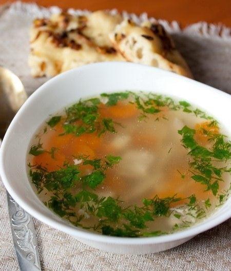 Легкий куриный суп фото