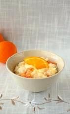 Рисовая каша с курагой и апельсиновым соком фото