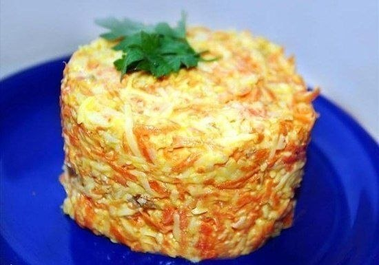 Салат из морковки с сыром фото