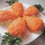 Салат с куриным филе и грибами — Морковки