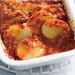 Картофель запеченный с чили и помидорами