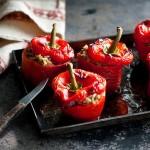 Фаршированные красные перцы