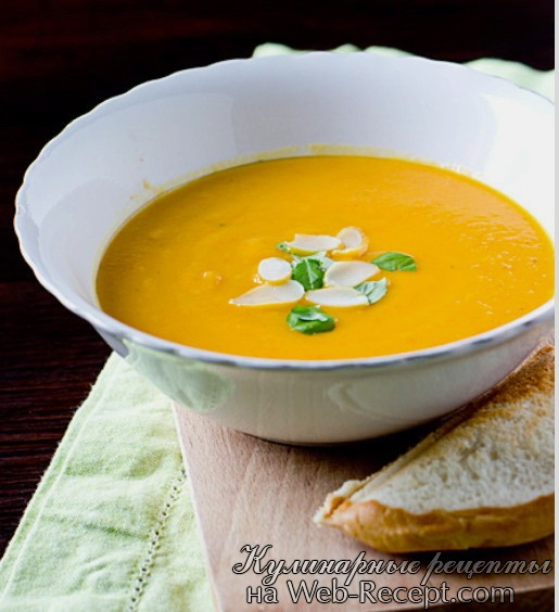 готовим морковный суп с имбирем рецепт