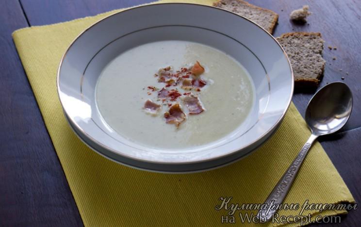 как приготовить суп из хрена и лука-порея фото