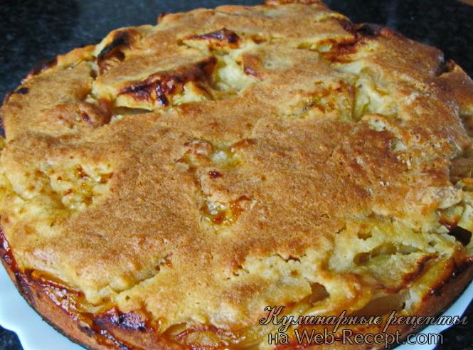 Быстрый пирог с яблоками фото