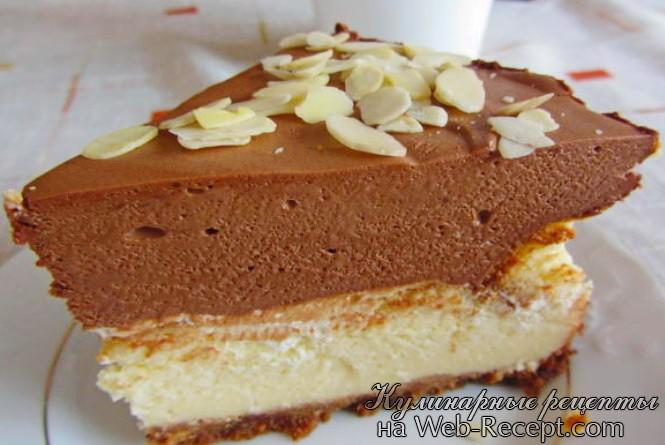 Чизкейк с шоколадным муссом фото
