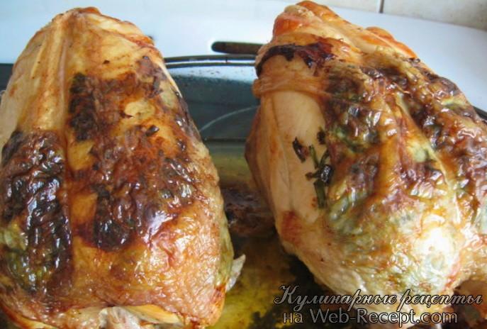 Курица с чесноком и луком фото