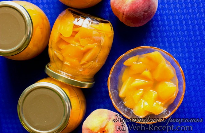 Персики в сиропе фото