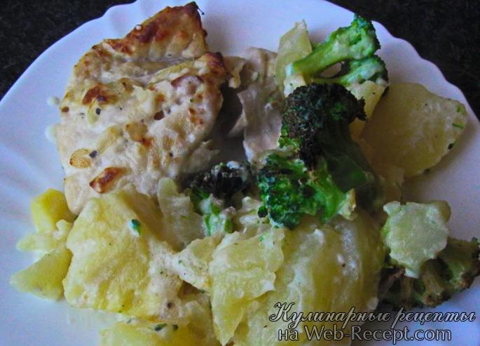 Рыба с картофелем под соусом бешамель фото