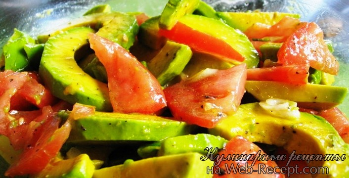 Салат из помидор и авокадо фото