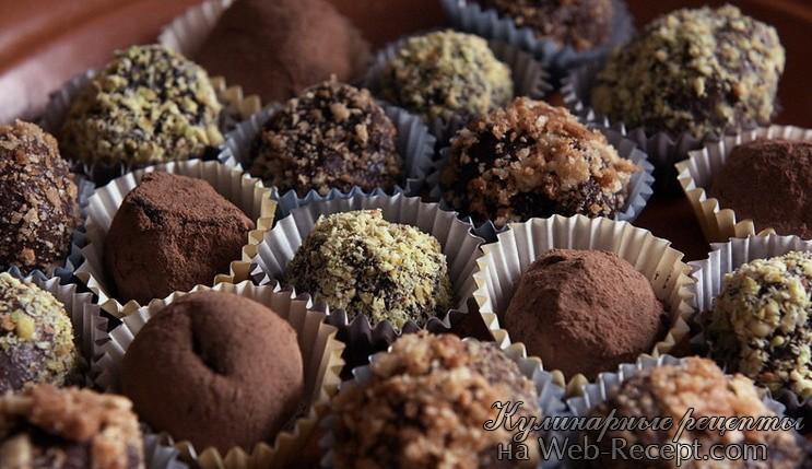 Шоколадные трюфели фото