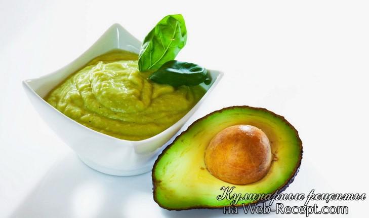 Соус из авокадо фото