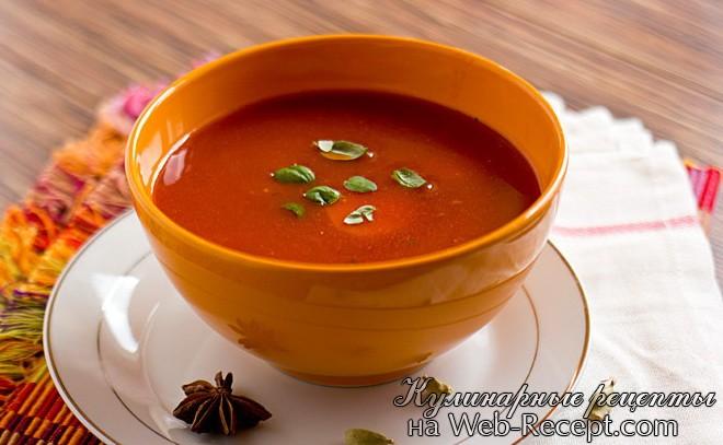 Томатный суп с имбирем и кардамоном фото