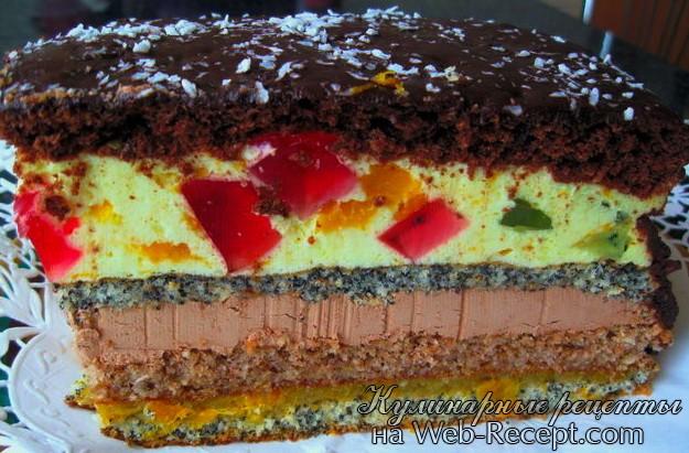 Торт Сладкая пирамида фото