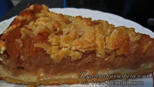 Яблочный пирог с сыром фото