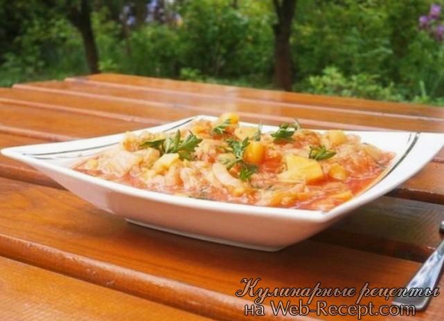 Китайская капуста тушенная с картофелем фото