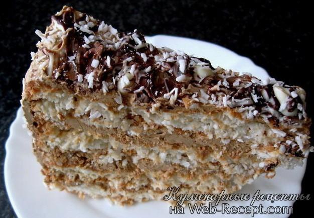 Кокосовый пирог фото