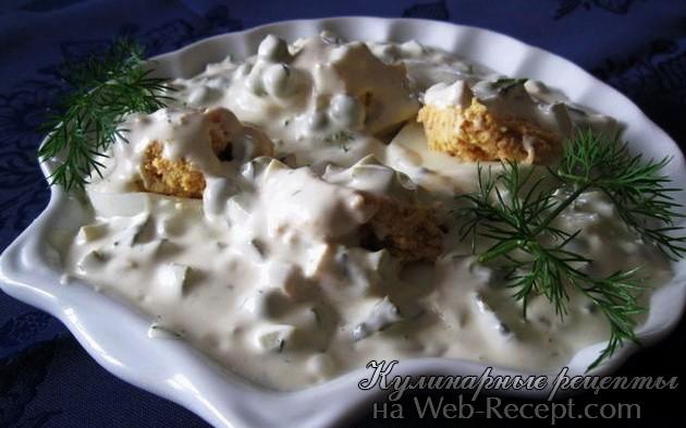 Яйца в соусе тар-тар фото