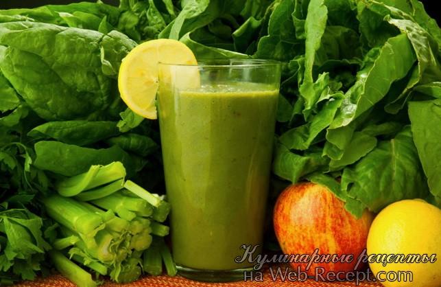 Зеленый коктейль фото