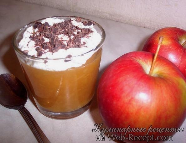 Персиковое желе с яблочным соусом фото