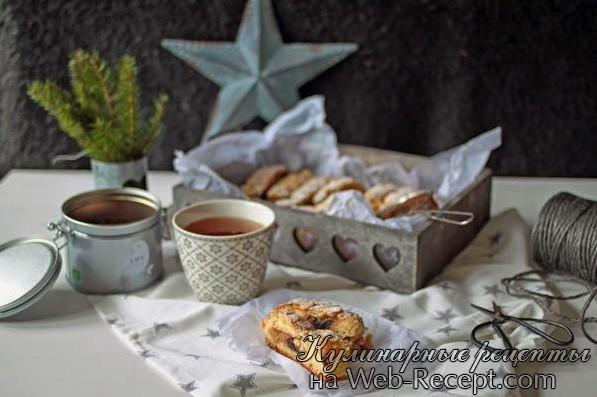 Пирог с вишней и миндалем фото