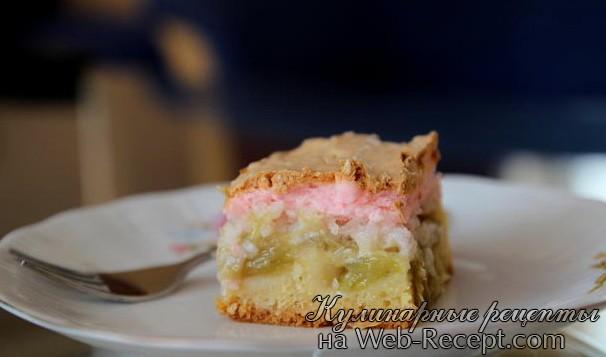 Торт с ревенем и кокосом фото