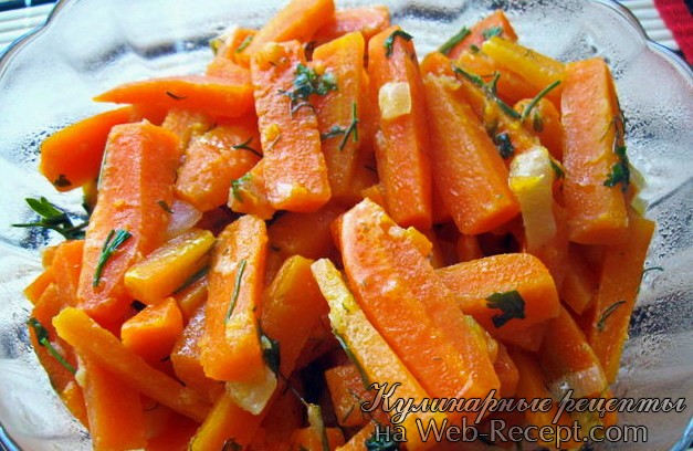 Тушеная морковь фото