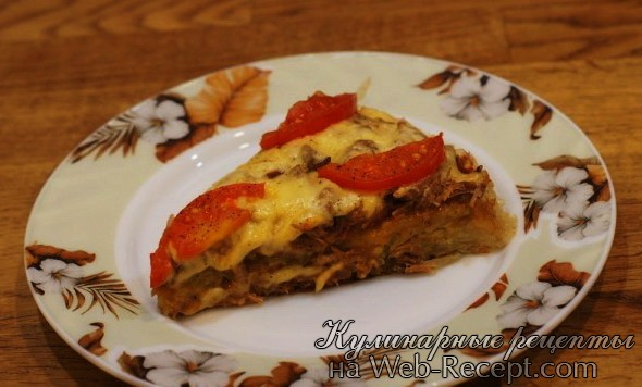 Картофельная пицца фото