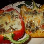 Фаршированные перцы с сыром