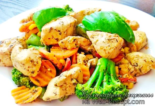 Маринованная курица с овощами фото