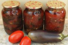 Баклажаны в томатном соусе фото