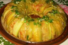 Кабачковая запеканка с рисом фото