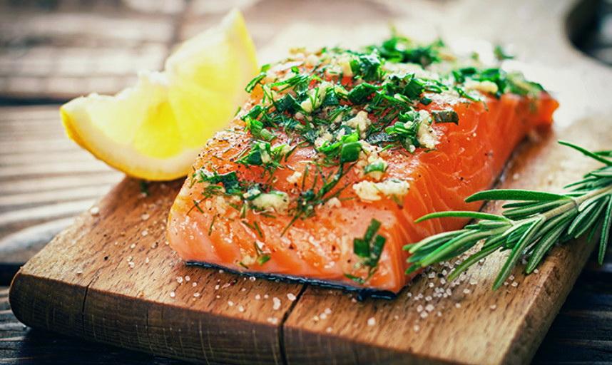 Блюдо из лосося фото