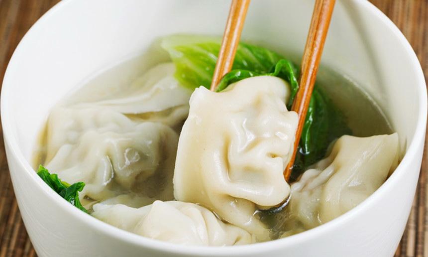Суп китайский с клецками фото