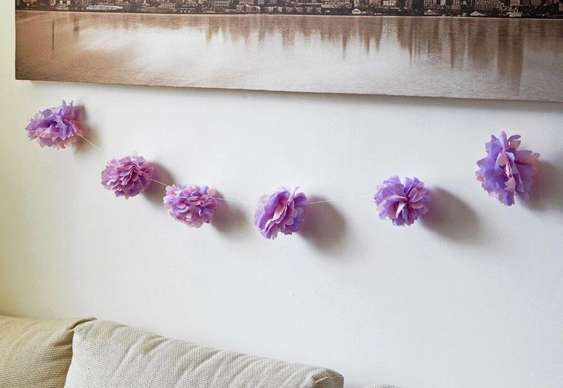 Декоративные гирлянды из бумаги