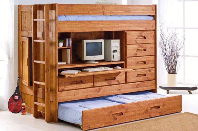 Модуль с задвижной детской кроватью